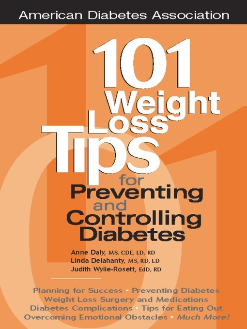 Le Details For 101 Weight Loss Tips Preventing And Controlling Diabetes By Anne Daly