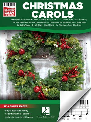 cover image of Christmas Carols--Super Easy Songbook