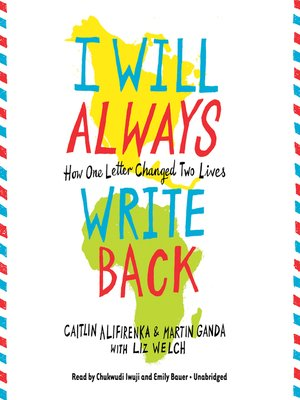 cover image of I Will Always Write Back