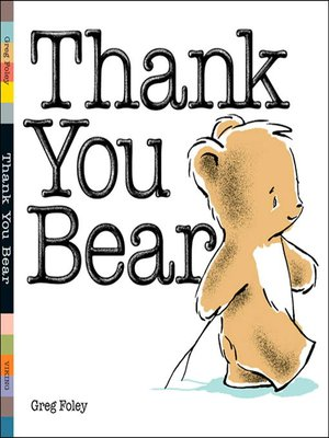 cover image of Thank You Bear Board Book