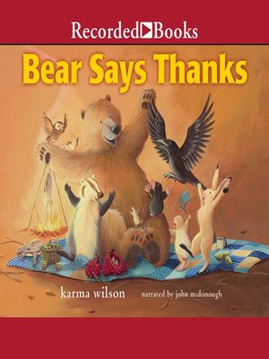 cover image of Bear Says Thanks