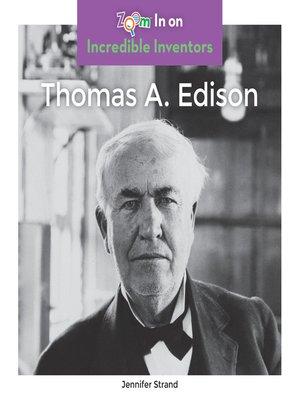 cover image of Thomas A. Edison