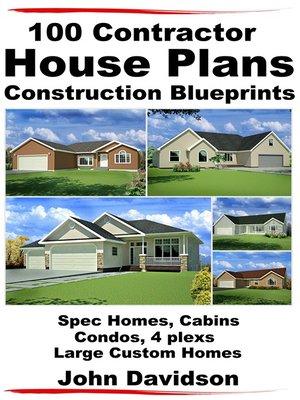 Contractor House Plans Construction Blueprints By John Davidson  C B Overdrive Rakuten