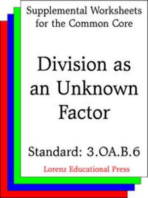 Common core worksheets division