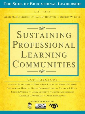 cover image of Sustaining Professional Learning Communities