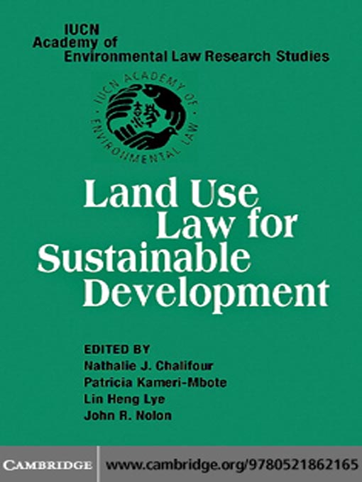 Title details for Land Use Law for Sustainable Development by Nathalie J. Chalifour - Available
