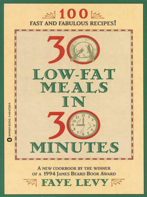 Cover image for 30 Low-Fat Meals in 30 Minutes