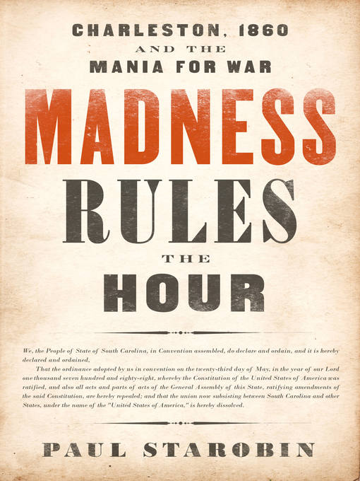 Cover of Madness Rules the Hour