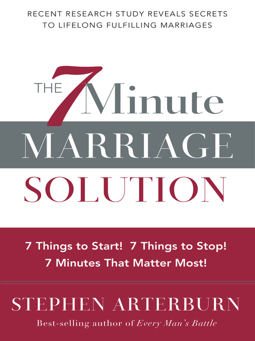 Title details for The 7-Minute Marriage Solution by Stephen Arterburn - Available