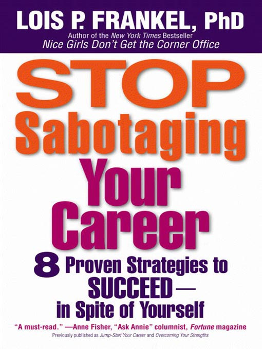 Cover of Stop Sabotaging Your Career
