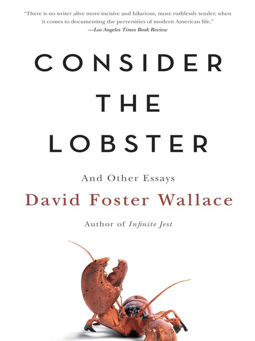 Cover of Consider the Lobster