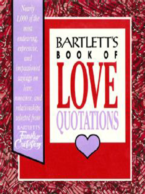 Cover of Bartlett's Book of Love Quotations
