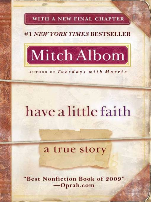 Title details for Have a Little Faith by Mitch Albom - Wait list