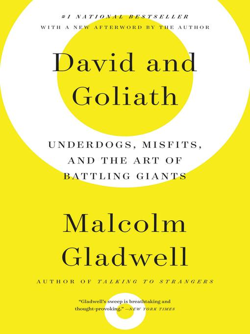 Cover image for book: David and Goliath
