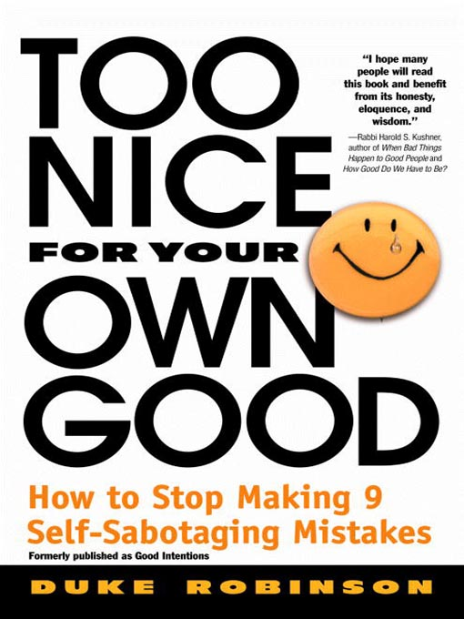 Cover of Too Nice for Your Own Good