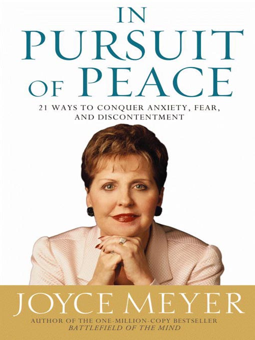 Title details for In Pursuit of Peace by Joyce Meyer - Wait list