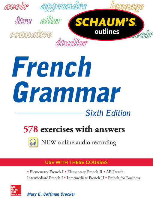 Title details for Schaum's Outline of French Grammar by Mary Coffman Crocker - Available
