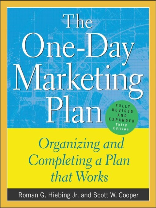 Title details for The One-Day Marketing Plan by Roman G. Hiebing - Available