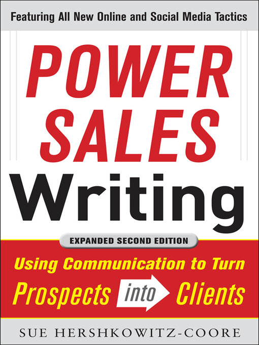 Title details for Power Sales Writing by Sue A. Hershkowitz-Coore - Available