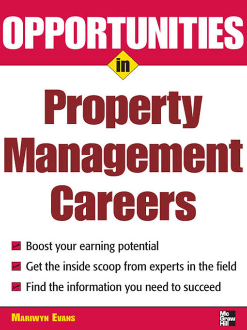 Title details for Opportunities in Property Management Careers by Mariwyn Evans - Available