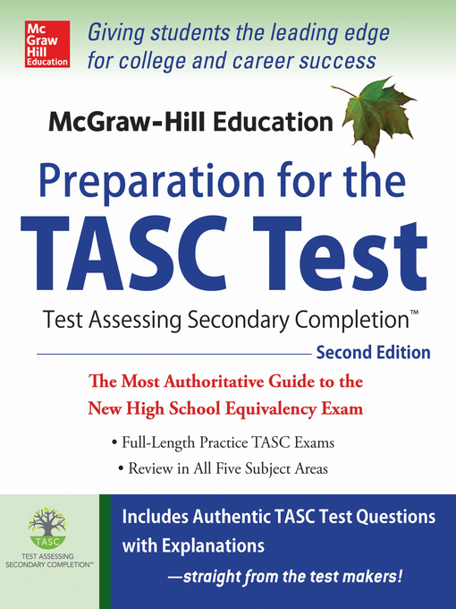 Title details for McGraw-Hill Education Preparation for the TASC Test by Kathy A. Zahler - Wait list