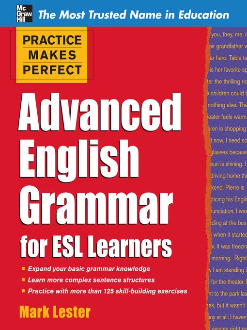 Title details for Advanced English Grammar for ESL Learners by Mark Lester - Wait list