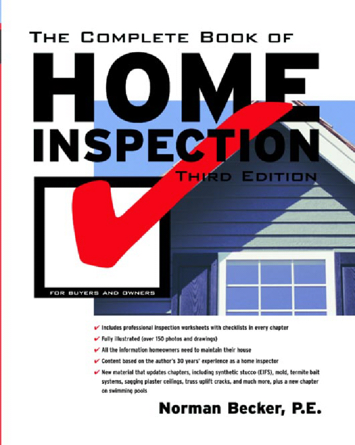 Cover of The Complete Book of Home Inspection