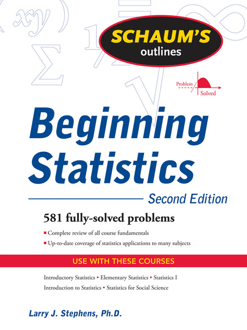 Title details for Beginning Statistics by Larry Stephens - Available