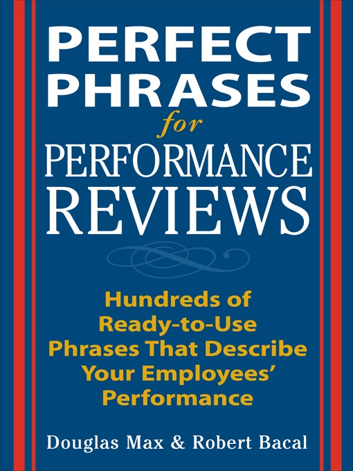 Title details for Perfect Phrases for Performance Reviews by Douglas Max - Available