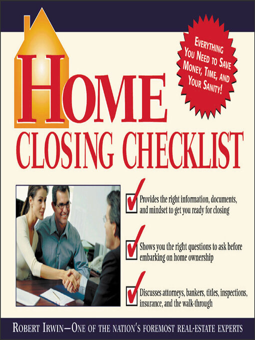 Title details for Home Closing Checklist by Robert Irwin - Available