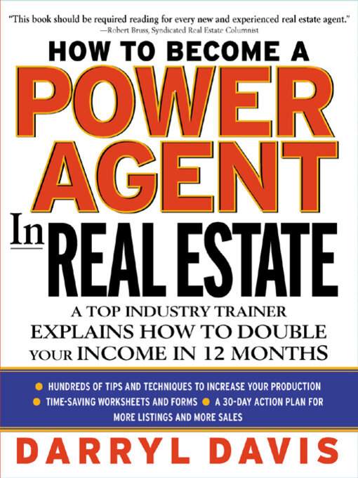 Title details for How to Become a Power Agent in Real Estate by Darryl Davis - Available