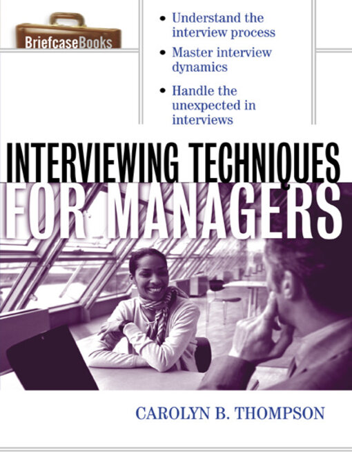 Cover of Interviewing Techniques for Managers