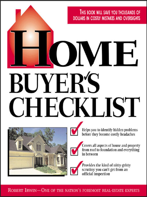 Cover of Home Buyer's Checklist