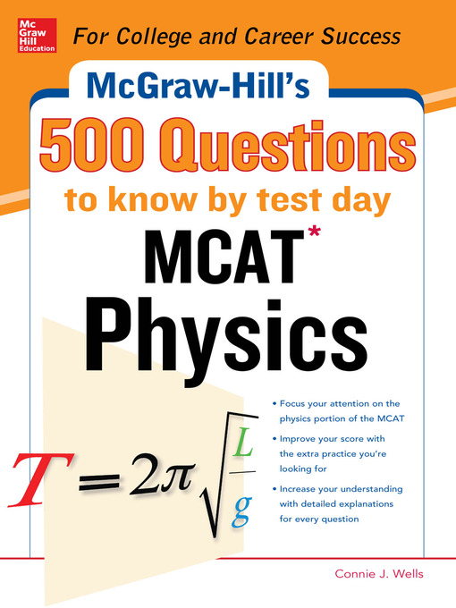 mcgraw hill s 500 mcat physics questions to know by test day san rh sanleandrolibrary overdrive com MCAT Chemistry MCAT Physics Equations