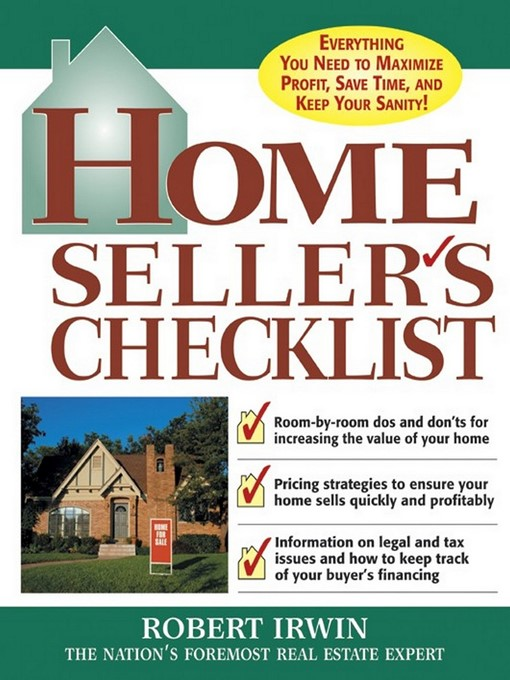 Title details for Home Seller's Checklist by Robert Irwin - Available