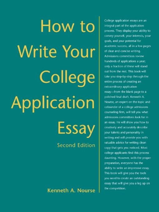 book of college application essays