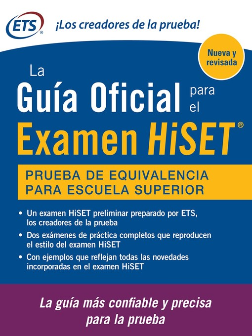 Title details for Guia Oficial De Examen HiSET by Educational Testing Service - Available