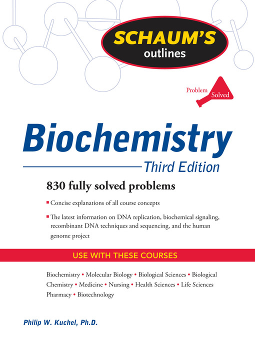 Title details for Biochemistry by Philip Kuchel - Available
