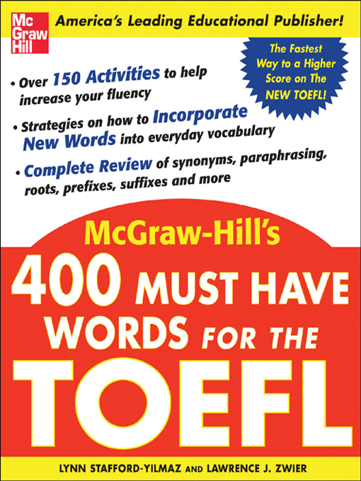 Title details for 400 Must Have Words for the TOEFL by Lynn Stafford-Yilmaz - Wait list