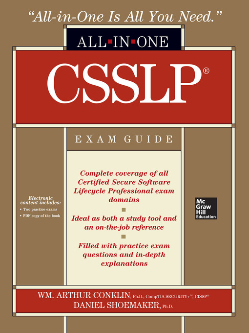 Csslp Certification All In One Exam Guide Ottawa Public Library