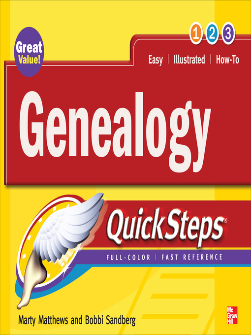 Title details for Genealogy QuickSteps by Marty Matthews - Wait list