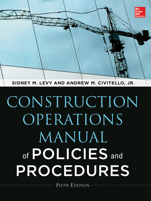 Construction Operations Manual Of Policies And Procedures National