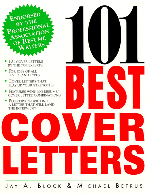 Cover image for 101 Best Cover Letters