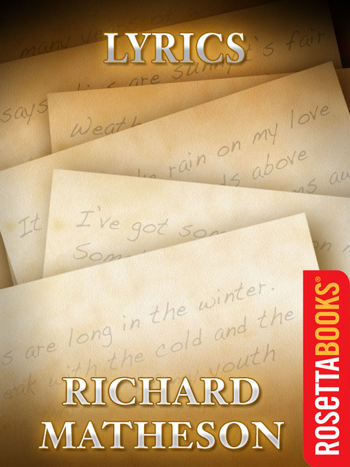 Title details for Lyrics by Richard Matheson - Available