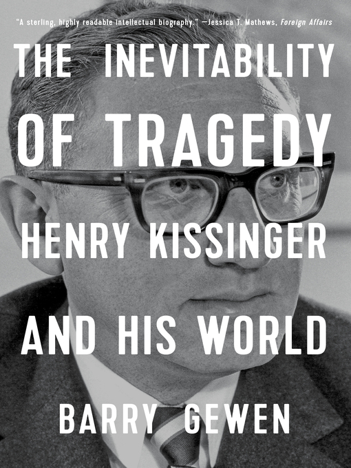 Title details for The Inevitability of Tragedy by Barry Gewen - Available
