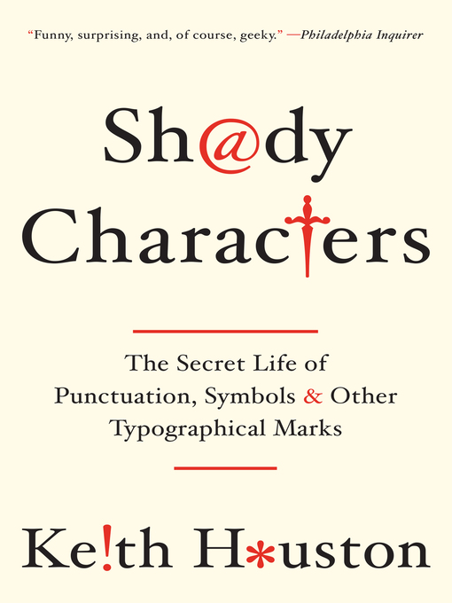 Shady Characters Huntington Public Library Overdrive
