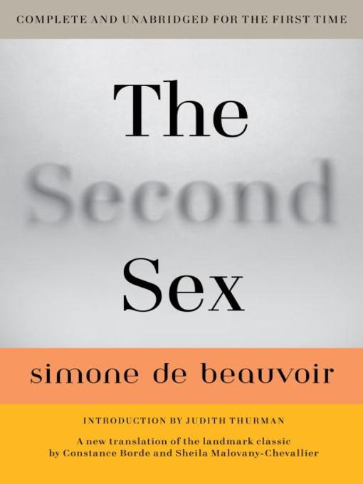 Title details for The Second Sex by Simone De Beauvoir - Available