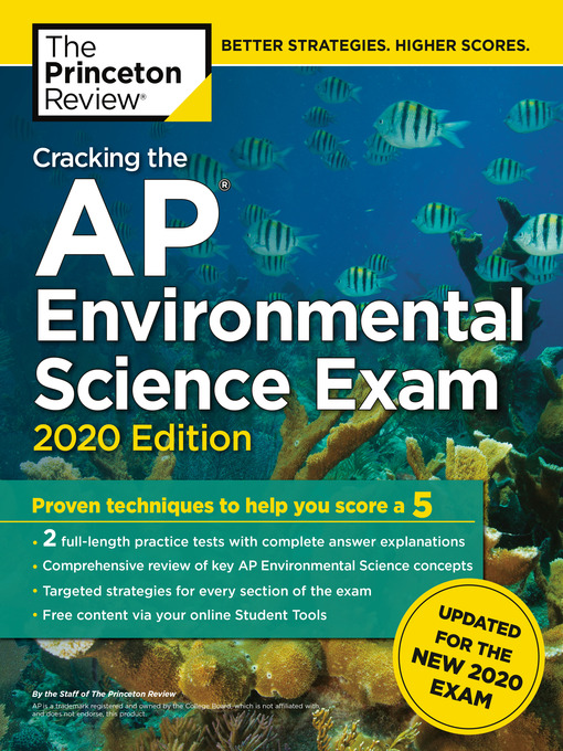 Title details for Cracking the AP Environmental Science Exam, 2020 Edition by The Princeton Review - Wait list