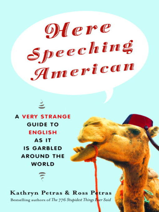 Cover of Here Speeching American