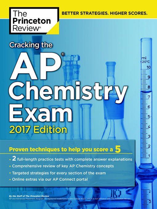 Title details for Cracking the AP Chemistry Exam, 2017 Edition by Princeton Review - Wait list